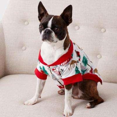 Family Flannel Dog's Santa Sleepwear