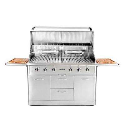 Precision 52 in. 6-Burner Stainless Steel Propane Gas Grill