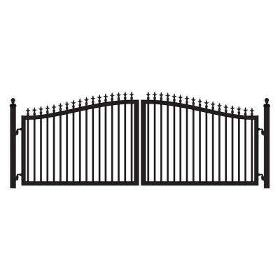 St. Augustine 16 ft. W x 5 ft. H 2 in. Powder Coated Steel Dual Driveway Fence Gate