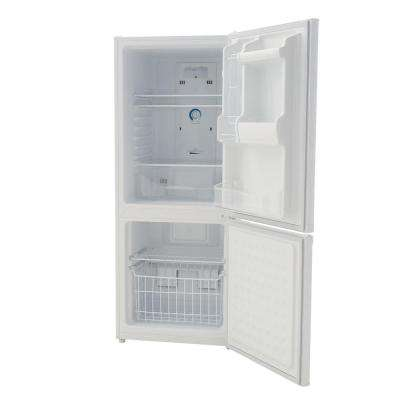 23.8 in. W 9.2 cu. ft. Bottom Freezer Refrigerator in White