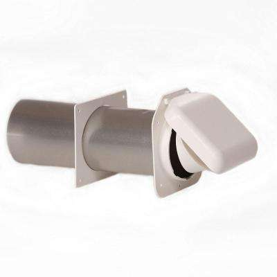 No-Pest Vent 4 in. Low Profile Dual Door Wall Vent in White