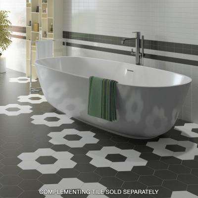 Hexatile Matte Blanco 7 in. x 8 in. Porcelain Floor and Wall Tile (7.67 sq. ft./case)