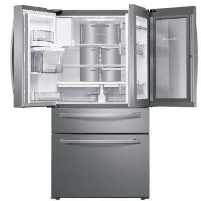 22.4 cu. Ft. Food Showcase 4-Door French Door Refrigerator in Fingerprint Resistant Stainless Steel, Counter Depth