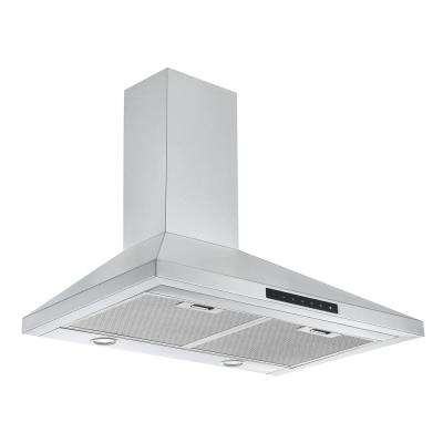 30 in. Convertible Wall Mount Pyramid Range Hood in Stainless Steel with Night Light Feature