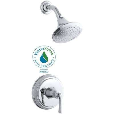 Archer 1-Handle Shower Faucet Trim Kit in Polished Chrome (Valve Not Included)