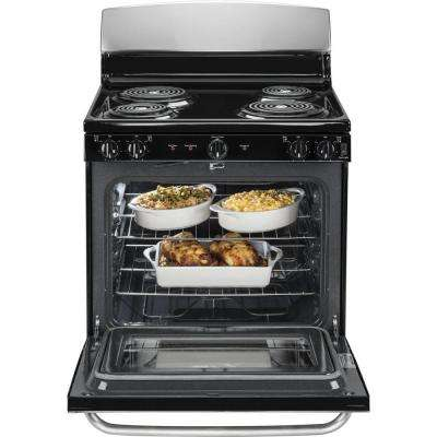 30 in. 5.0 cu. ft. Free-Standing Electric Range with Self-Cleaning Oven in Stainless Steel