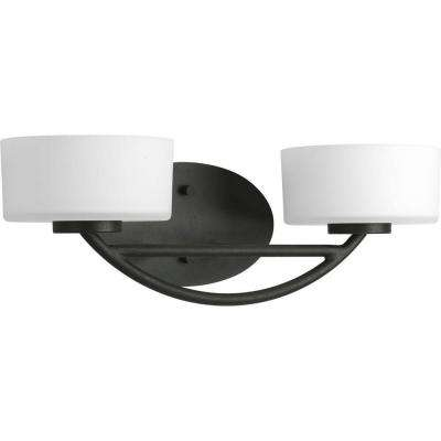 Calven Collection 2-Light Forged Black Bath Light