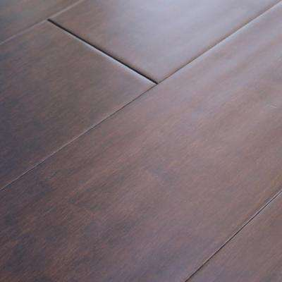 Walnut Hand-Scraped 1/2 in. Thick x 4 in. Width x Varying Length Engineered Hardwood Flooring (20.84 sq. ft./case)