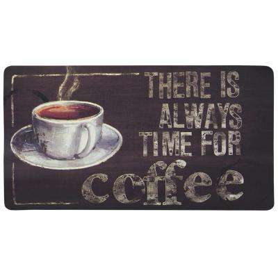 Coffee Time 20 in. x 36 in. Kitchen Mat