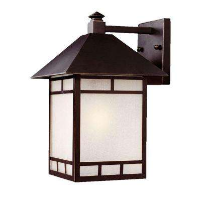 Artisan Collection 1-Light Architectural Bronze Outdoor Wall-Mount Fixture