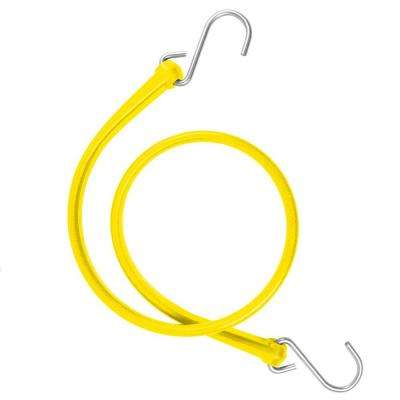 31 in. Polyurethane Bungee Strap with Galvanized S-Hooks (Overall Length: 36 in.)