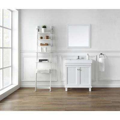Parkbridge 30 in. W x 15.10 in. D Vanity in White with Ceramic Vanity Top in White with White Sink