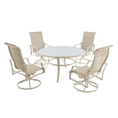 Statesville Shell 5-Piece Aluminum Outdoor Dining Set