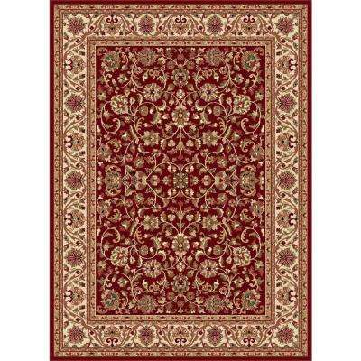 Sensation Red 8 ft. 9 in. x 12 ft. 3 in. Transitional Area Rug