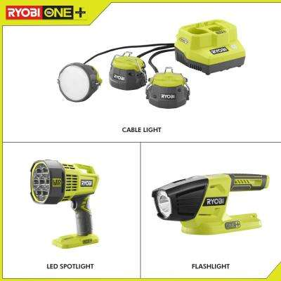 18-Volt ONE+ Lithium-Ion Cordless 10-Tool Combo Kit with (1) 4.0 Ah Battery, (1) 1.5 Ah Battery, 18-Volt Charger and Bag