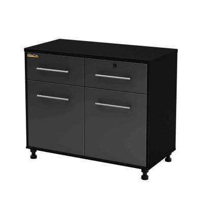 Karbon 30 in. H x 39-1/2 in. W x 19-1/2 in. D Laminated Particleboard Garage Storage Base Cabinet