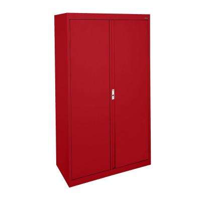 System Series 30 in. W x 64 in. H x 18 in. D Double Door Storage Cabinet with Adjustable Shelves in Red