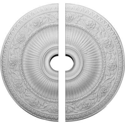 24-1/4 in. O.D. x 3-1/2 in. I.D. x 2 in. P Neuveau Ceiling Medallion (2-Piece)