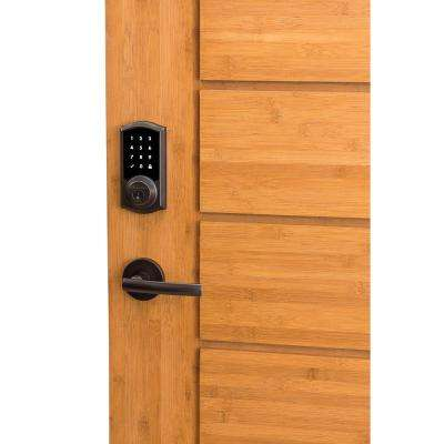 SmartCode 915 Touchscreen Venetian Bronze Single Cylinder Electronic Deadbolt with Avalon Handleset and Tustin Lever