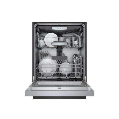 800 Series Front Control Recessed Handle Dishwasher in Stainless Steel with Stainless Steel Tub,CrystalDry, 42dBA