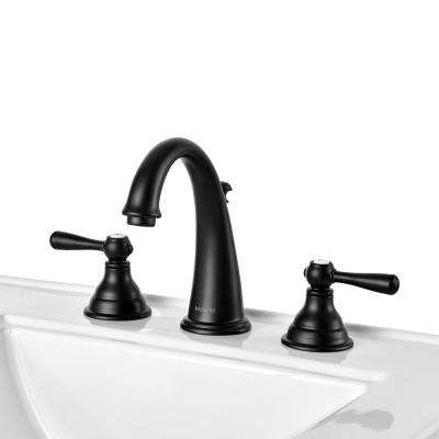 Kingsley 8 in. Widespread 2-Handle High-Arc Bathroom Faucet Trim Kit with Valve in Wrought Iron