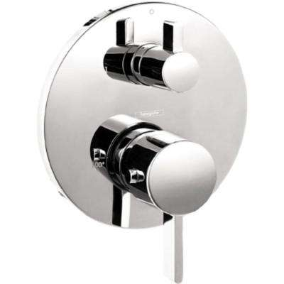 Metris S 2-Handle Thermostatic Valve Trim Kit with Volume Control and Diverter in Brushed Nickel (Valve Not Included)