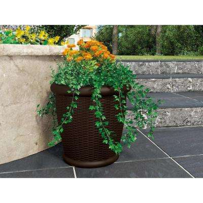 Willow 22 in. Round Java Blow Molded Resin Planter (2-Pack)
