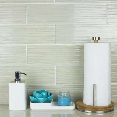 Monroe Barcelona Beige Field  4 in. x 16 in. Textured Glass Wall  Tile (4 Sq. ft./Pack)
