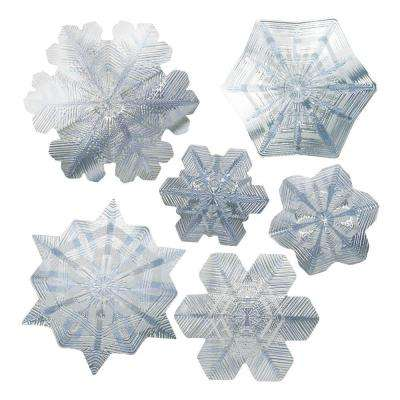 Artscape 12 inch x 12 inch Snowflake Holiday Sapphire Decorative Window Accents Film