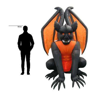 8.3 ft. Pre-Lit Inflatable Fire and Ice Gargoyle (RRPm) Airblown