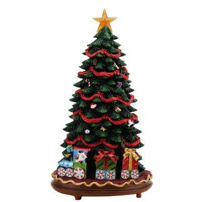 18 in. Fiber Optic LED Christmas Tree with Music