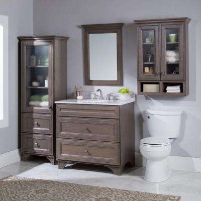 Albright 36 in. W Bath Vanity Cabinet Only in Winter Gray