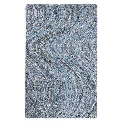 Stardust Blue and White 5 ft. x 8 ft. Area Rug