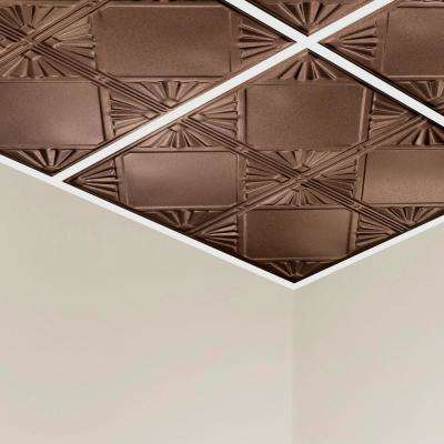 Erie 2 ft. x 2 ft. Lay-In Tin Ceiling Tile in Penny Vein (20 sq. ft./case)