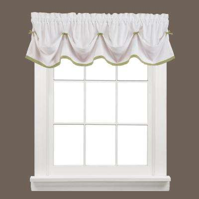 Kate 13 in. L Polyester Valance in Sage