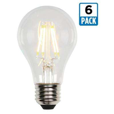 40W Equivalent Soft White A19 Dimmable Filament LED Light Bulb (6-Pack)