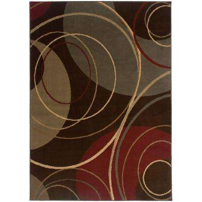 Gyro Brown 8 ft. 2 in. x 10 ft. Area Rug