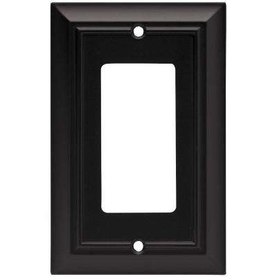 Architectural 1 Decora Wall Plate- Flat Black