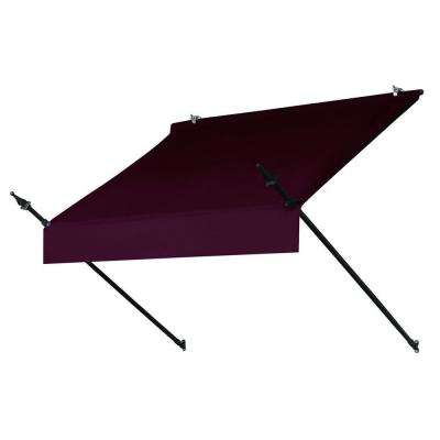 6 ft. Designer Awning Replacement Cover (25 in. Projection) in Burgundy