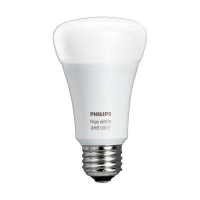 Hue 60W Equivalence White and Color Ambiance A19 Single LED Light Bulb