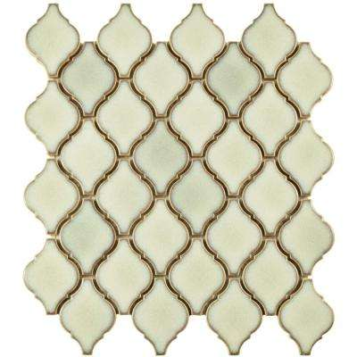 Arabesque Selene 9-7/8 in. x 11-1/8 in. x 6 mm Porcelain Mosaic Tile