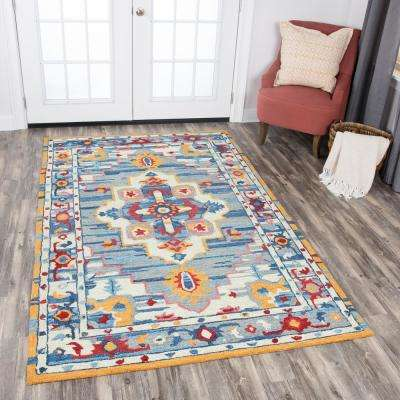 Zingaro Natural Multicolor Hand Tufted Wool 10 ft. x 13 ft. Rectangle Area Rug