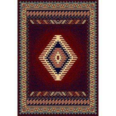 Tuscan Burgundy 5 ft. 3 in. x 7 ft. 6 in. Area Rug