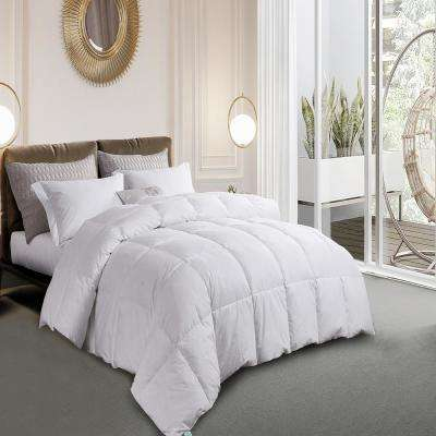 240 Thread Count White Goose Feather and Down Comforter