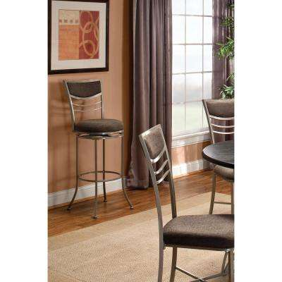 Amherst 24 in. Champagne Swivel Cushioned Bar Stool