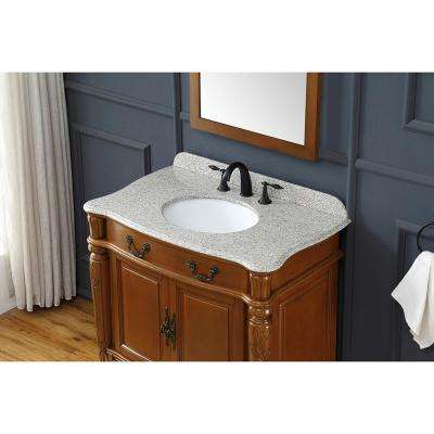Lynton 36 in. W Bath Vanity in Fruit with Granite Vanity Top in Speckled Beige with White Basin