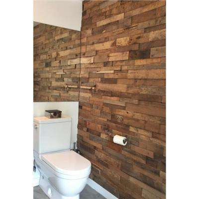 1 in. x 39.5 in. x 11.5 in. Reclaimed Natural American Barn Wood Wall Panel