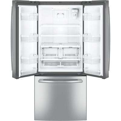 30 in. W 20.8 cu. ft. French Door Refrigerator in Stainless Steel
