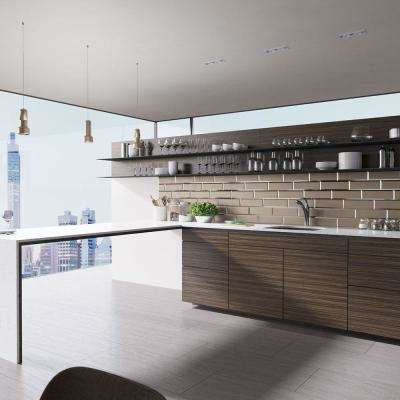 Undermount Composite Granite 24-3/4 in. Single Bowl Kitchen Sink in Umber