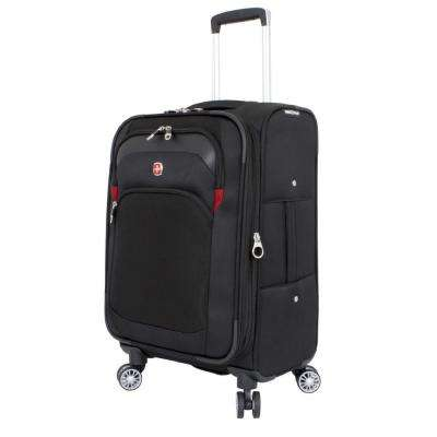 20 in. Upright Spinner Suitcase in Black